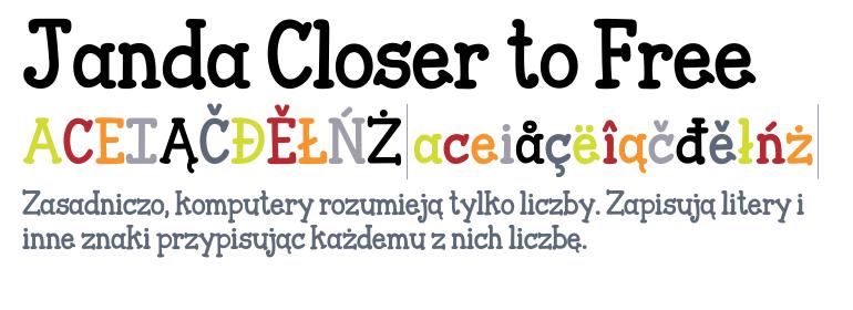 Janda Closer To Free Regular Fonts Com