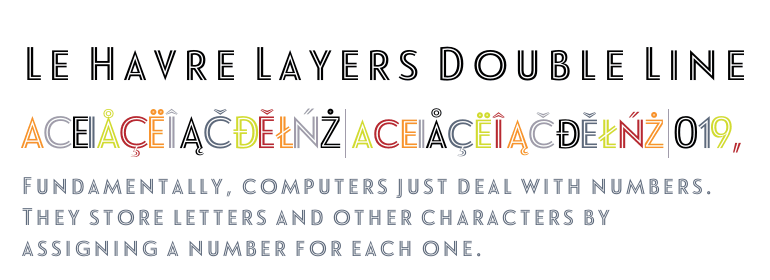 Le Havre Layers Double Line Fonts Com