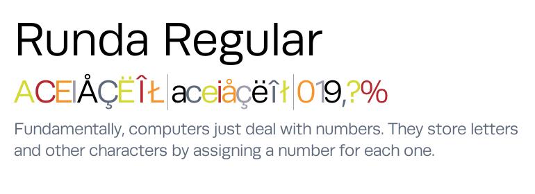 Runda Regular Fonts Com